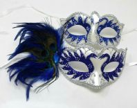 Swan Lake Couples Masks in Blue